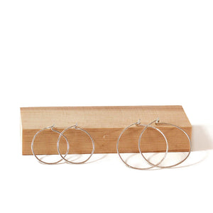 Silhouette Hoop Earrings and Charm Set