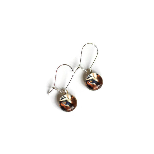 Tiger drop earrings
