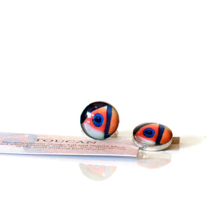 Toco Toucan Sterling Silver Cufflinks