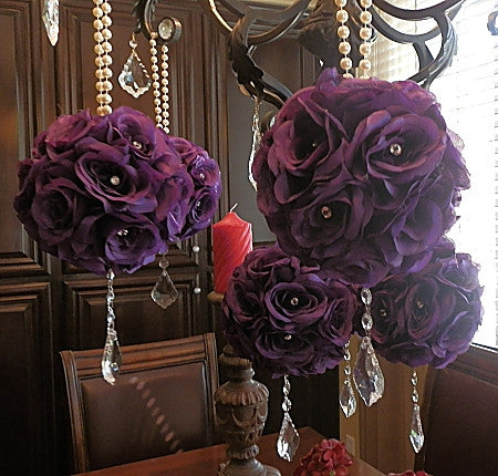 Purple Wedding Pomanders- Set of 6