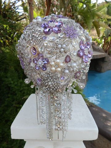 Glamorous Teardrop Brooch Bouquet  $625USD
