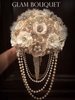 Champagne Ivory Vintage Jeweled Bouquet - $525.00