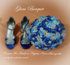 Blue Jeweled Wedding Bouquet -$ 495.00
