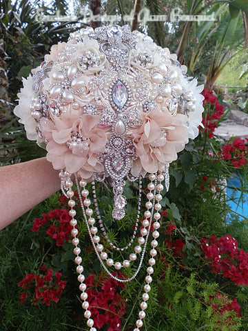 Vintage Glam Bridal Brooch Bouquet - $565.00