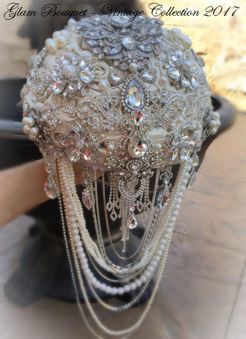 Cascade Gatsby Bridal Brooch Bouquet - $565.00 USD