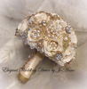 Ivory and Gold Petal Brooch Bouquet - $499.00