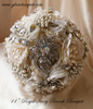 Heirloom Bridal Broach Bouquet | Custom Made Bridal Brooch Bouquet Wedding decor | vintage earthtones