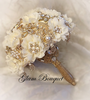Elegant Ivory and Gold Jeweled Bouquet - $525.00