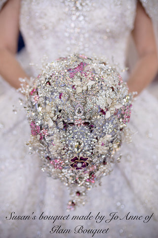 """Deposit"" Custom BROOCH Teardrop Brooch Bouquet - $1200.00 (Full Price)"
