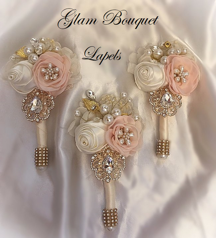 Custom Wedding Lapel/Boutonnieres $65.00