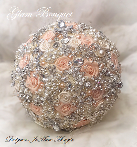 Custom Jeweled Wedding Bouquet $495.00 Full Price
