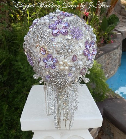 Custom Teardrop Brooch Bouquet - $625.00