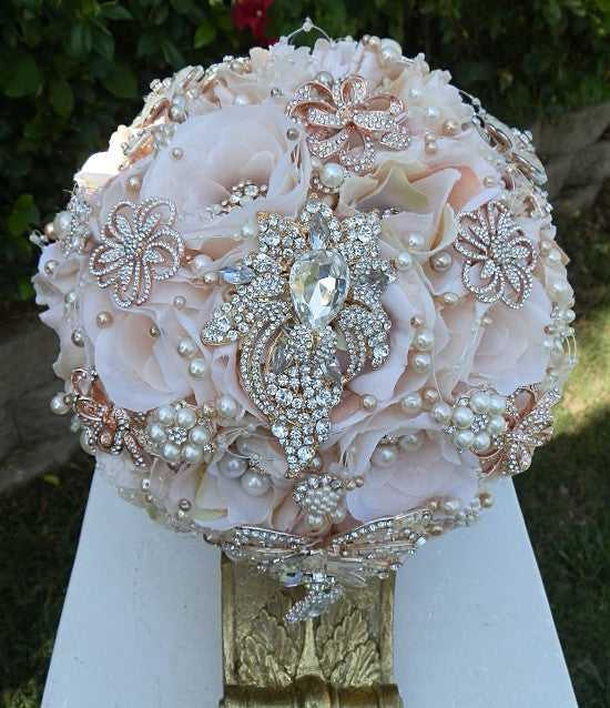 Pink Bridal Brooch Bouquet- $495.00 (Promo Full Price