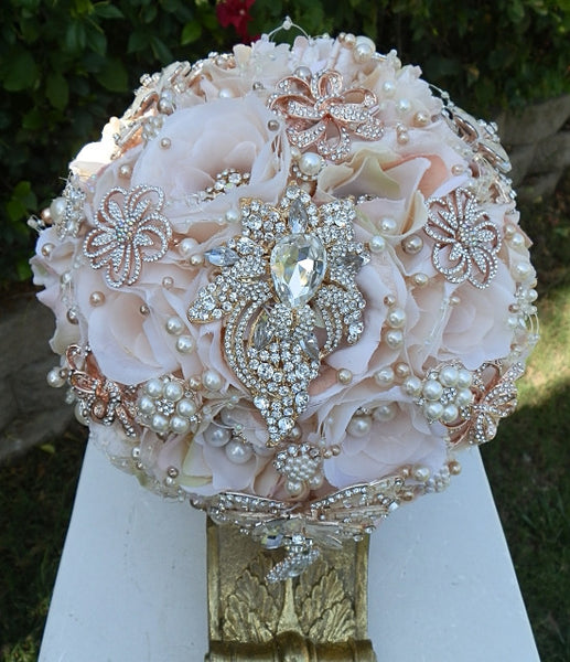 pink bridal brooch bouquet 49500 promo full price