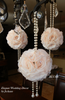 ivory Bridal pomander wedding decor pearls