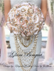 Cascading Pearl Pink Wedding Bouquet - $565.00 USD