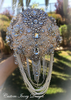 CUSTOM GATSBY BRIDES BROOCH BOUQUET  - $595.00 USD