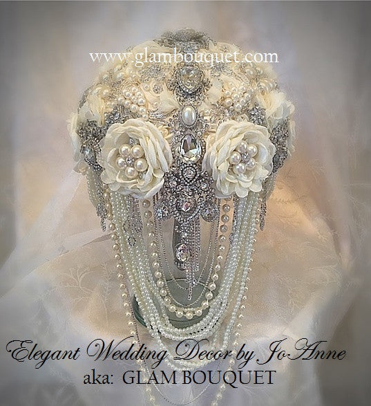 Ivory Pearl Brooch Bouquet- $675 (Full Price)
