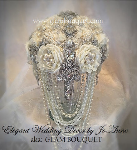 Elegant Ivory Pearl Brooch Bouquet- $620.00 (PROMO Full Price)
