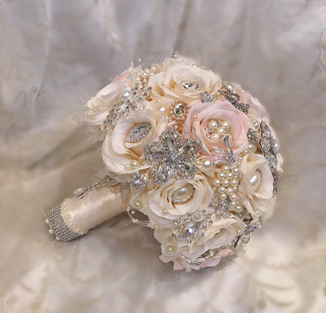 Pink and Gold Brooch Bouquet - $499.00 (Promo)