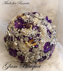 Purple Brooch Bouquet - $485.00 Full Price