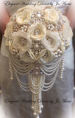 VINTAGE GATSBY JEWELED BOUQUET-Ready to Ship