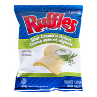 Ruffles Sour Cream 'n On Chips 40g - Case Pack 48