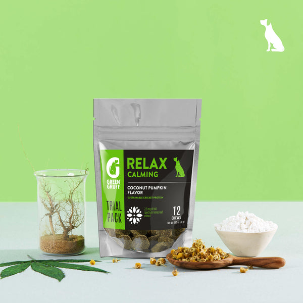 Green Gruff Hemp and Cricket Protein Trial Size - RELAX