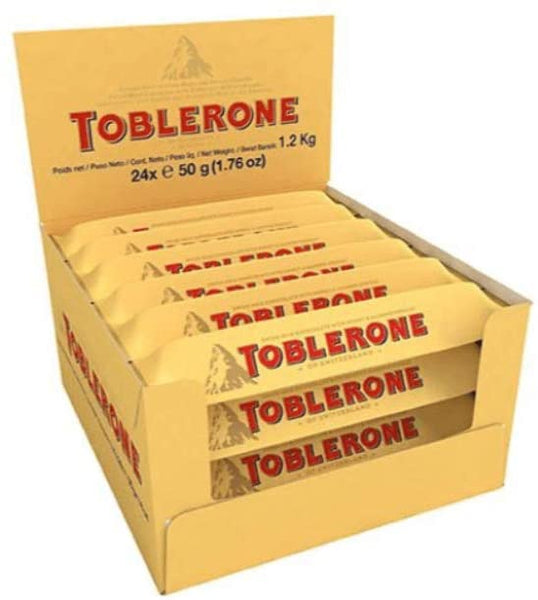 Toblerone Milk Chocolate 50G - Case Pack of 24