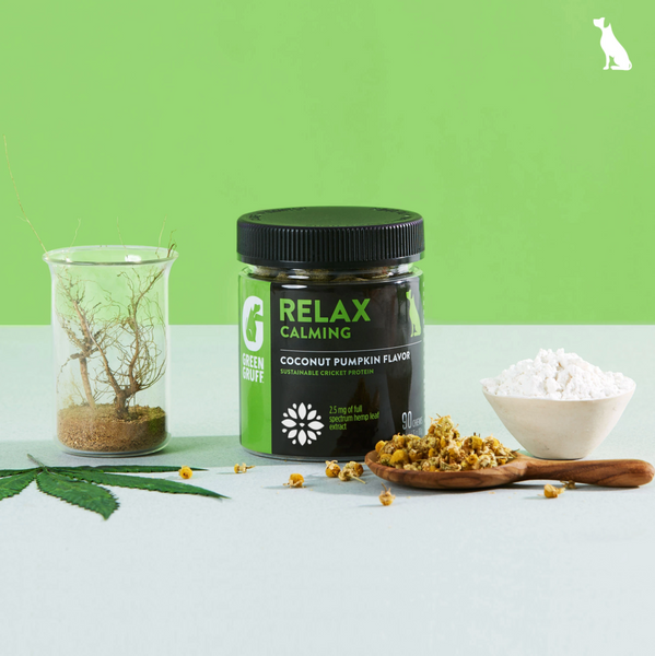 Green Gruff Hemp and Cricket Protein Dog Treats - RELAX