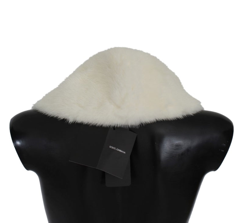 White Mink Fur Shoulder Collar Scarf