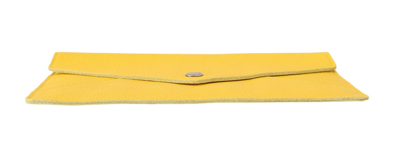 Tablet Case Pouch Yellow Leather Mini Cover Unisex