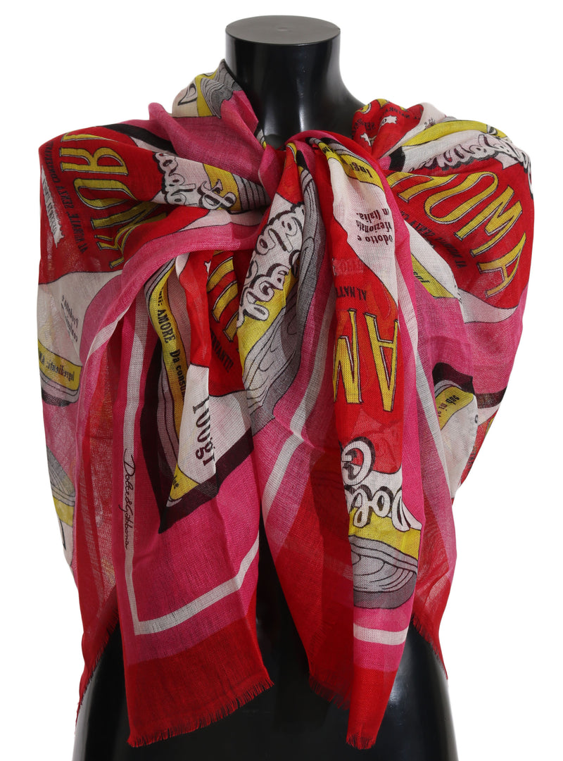 Red AMORE Cashmere Silk Wrap Scarf