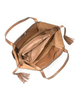 Ashbury Large Leather Shoulder Bag in Acorn