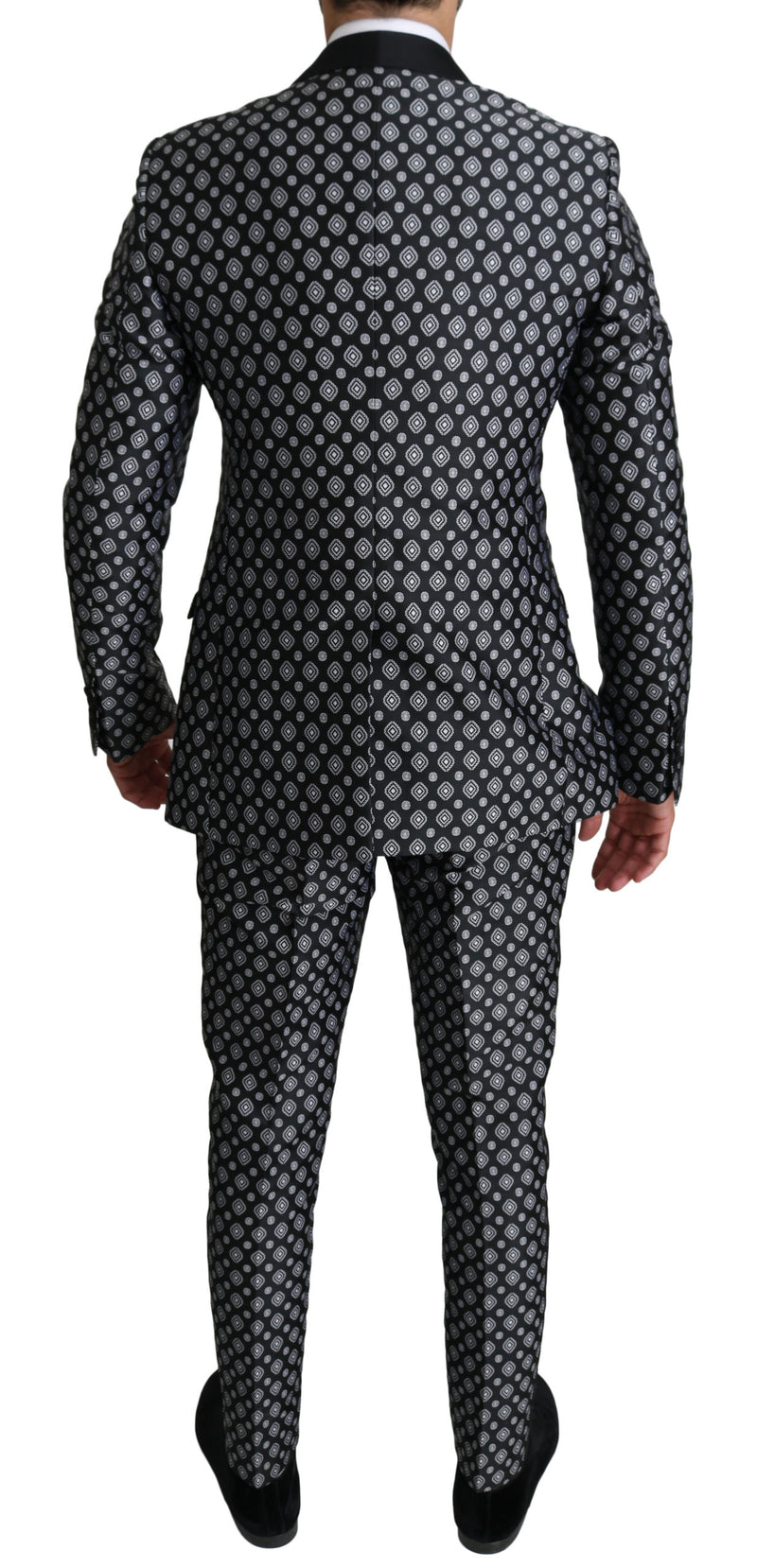 GOLD Black Baroque Silver 2 Piece Suit