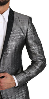 GOLD Silver Single Breasted 2 Piece Suit