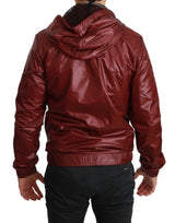 Red DG Running Zipper Hooded Sweater