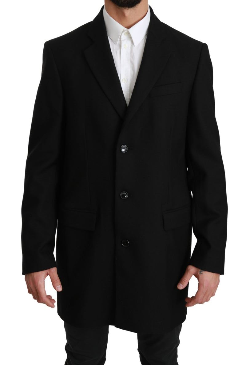 Black 100% Wool Jacket Coat Blazer