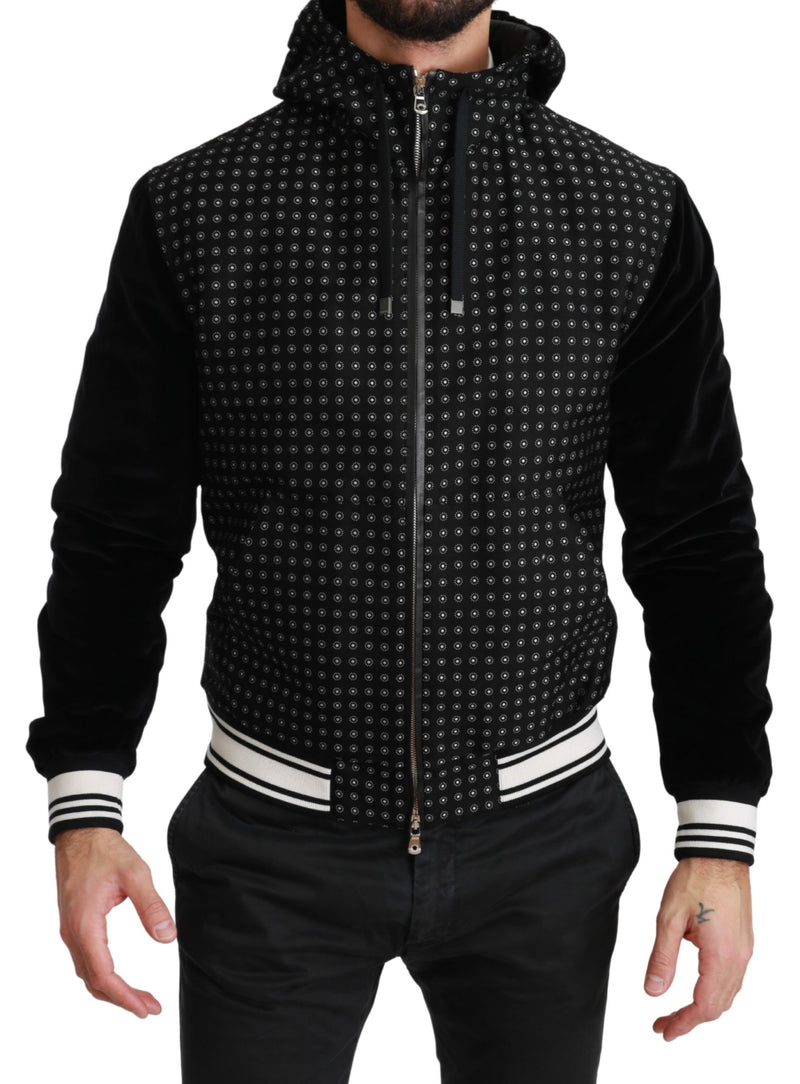 Black Short Bomber Baroque Coat Jacket