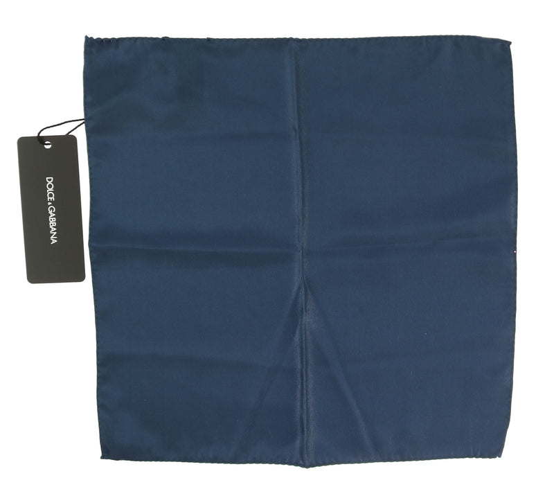 Silk Blue Square Pocket Handkerchief