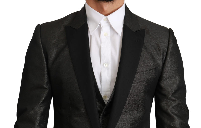Gray Single Breasted 3 Piece MARTINI Suit