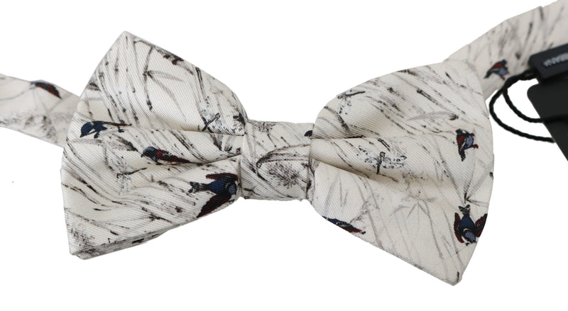 White Birds 100% Silk Adjustable Neck Butterfly Men