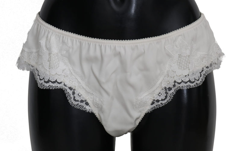White Silk Slip Lingerie Bottoms Underwear