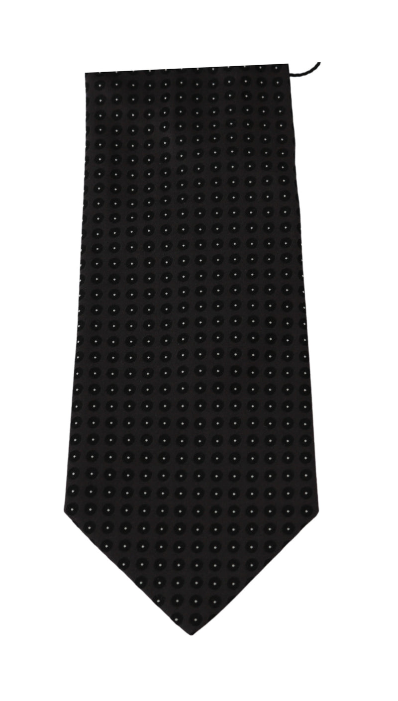 Purple Dotted Slim Classic Necktie Tie