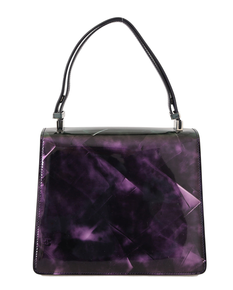 Purple Patent Leather Hand Shoulder Satchel Purse