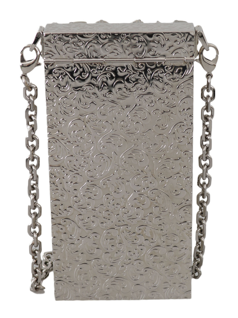 Cross Body Silver Crystal Brass Crystal Purse