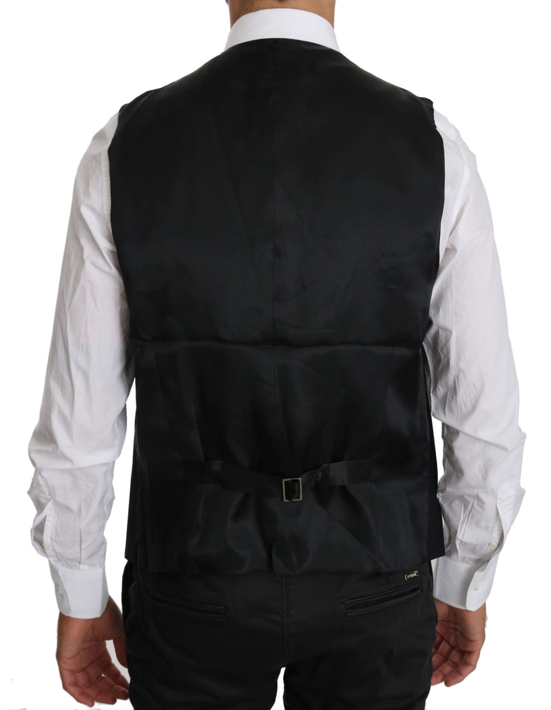 Black Waistcoat Formal Gilet Cotton Vest
