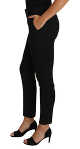Black Dress Pants Wool Stretch Slim Skinny Pant