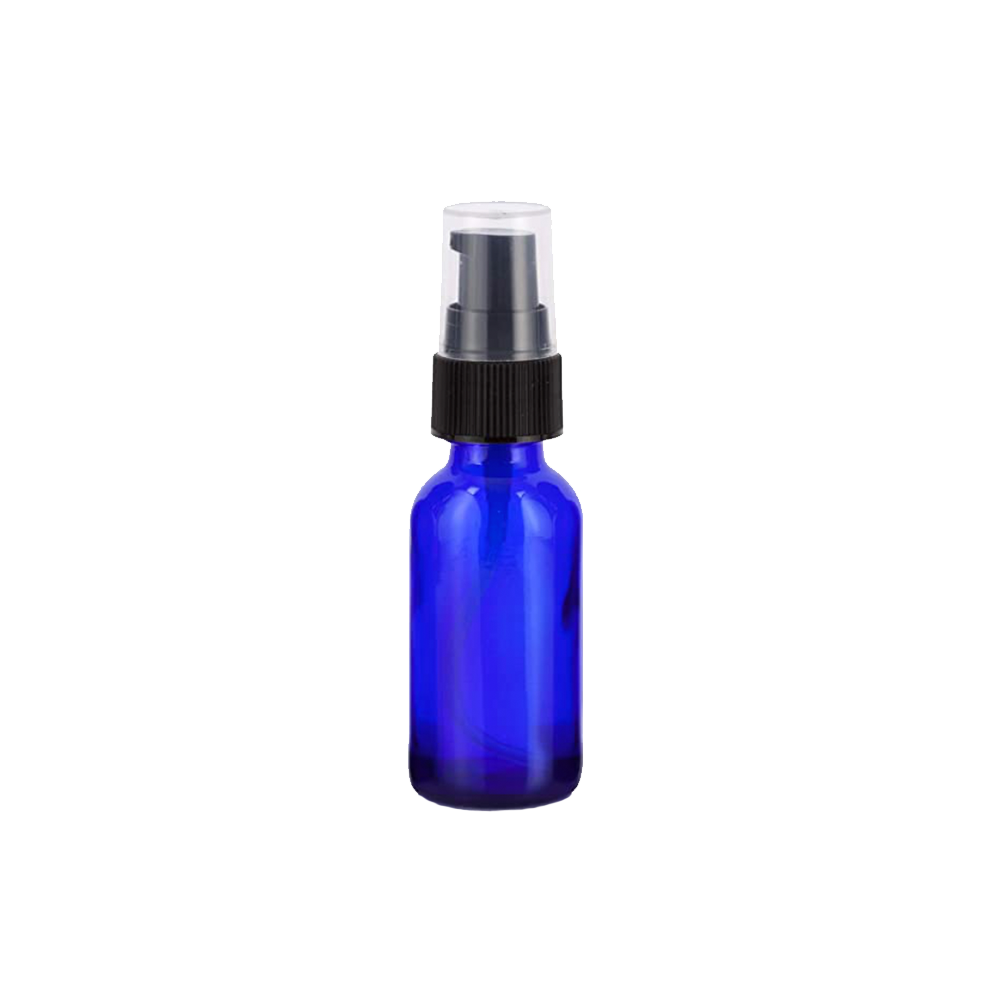 REST 1 oz Cobalt Blue Travel Bottle w/Black Pump