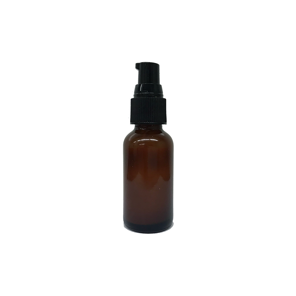 REGEN 1 oz Amber Travel Bottle w/Black Pump